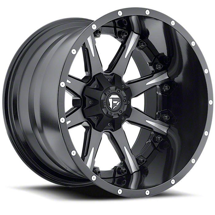 Fuel Wheels NUTZ Black Milled 6-Lug Wheel - 22x10 (07-18 Sierra 1500)