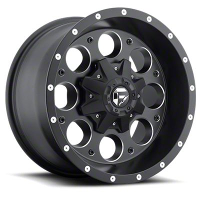 Fuel Wheels Revolver Black Milled 6-Lug Wheel - 17x9 (07-18 Sierra 1500)