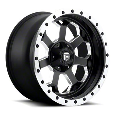 Fuel Wheels Savage Black Milled 6-Lug Wheel - 18x9 (07-18 Sierra 1500)