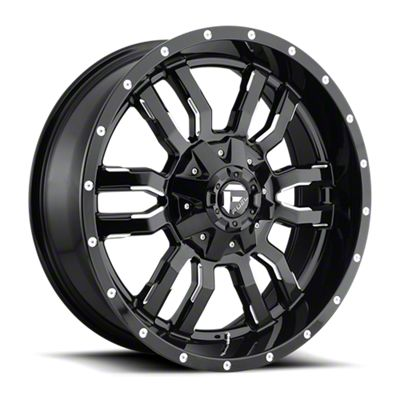 Fuel Wheels Sledge Gloss Black Milled 6-Lug Wheel - 17x9 (07-18 Sierra 1500)