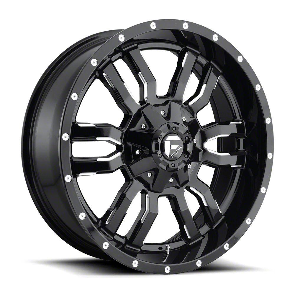 Fuel Wheels Sledge Gloss Black Milled 6-Lug Wheel - 20x9 (07-18 Sierra 1500)
