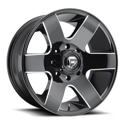 Fuel Wheels Tank Gloss Black Milled 6-Lug Wheel - 20x9 (07-18 Sierra 1500)