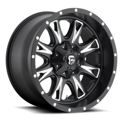 Fuel Wheels Throttle Black Milled 6-Lug Wheel - 18x10 (07-18 Sierra 1500)
