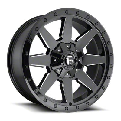 Fuel Wheels Wildcat Gloss Black Milled 6-Lug Wheel - 17x9 (07-18 Sierra 1500)