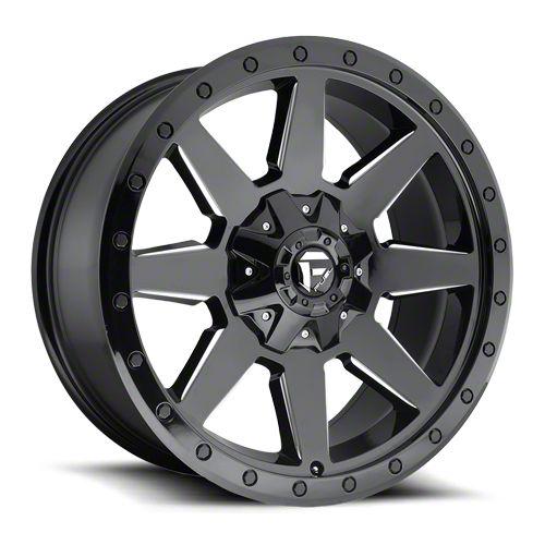 Fuel Wheels Wildcat Gloss Black Milled 6-Lug Wheel - 20x9 (07-18 Sierra 1500)