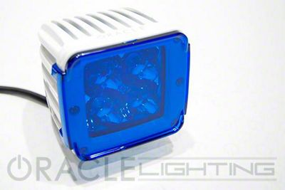 Oracle 3 in. Off-Road Series Square LED Light w/ Blue Lens - Spot Beam