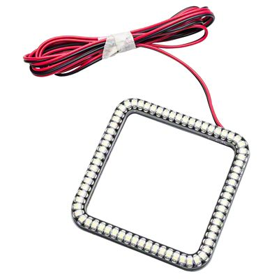 Oracle 3 in. Square Halo for Cube/Square Lights - White (07-18 Sierra 1500)