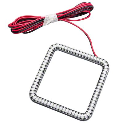 Oracle 3 in. Square Halo for Cube/Square Lights - Red (07-18 Sierra 1500)