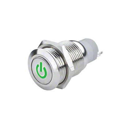 Oracle Pre-Wired Power Symbol On/Off Flush Mount LED Switch - Green (07-19 Sierra 1500)