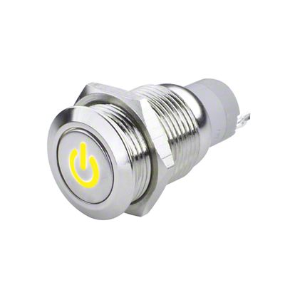 Oracle Pre-Wired Power Symbol On/Off Flush Mount LED Switch - Yellow (07-18 Sierra 1500)