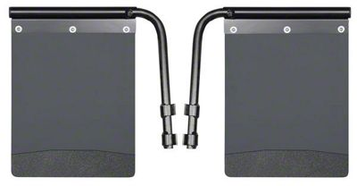 Husky Removable Pivoting Mud Flaps - Black Weight (07-18 Sierra 1500)