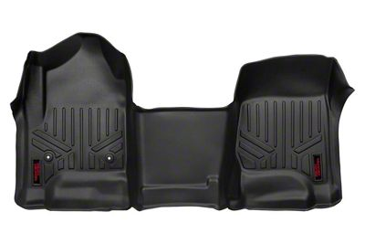 Rough Country Heavy Duty Front Floor Mats - Black (14-18 Sierra 1500)