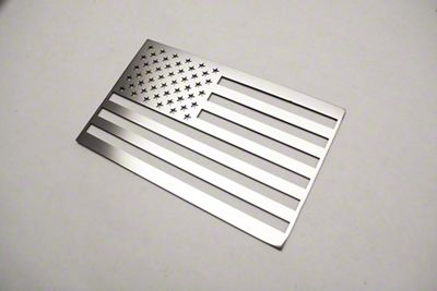 Stainless Steel American Flag Emblem - Polished (07-18 Sierra 1500)