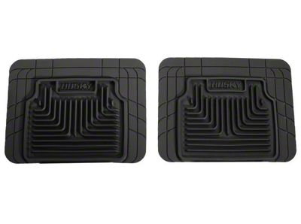 Husky Heavy Duty 2nd Seat Floor Mats - Black (07-13 Sierra 1500 Extended Cab, Crew Cab)