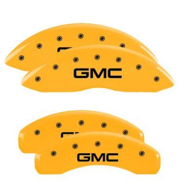 MGP Yellow Caliper Covers w/ GMC Logo - Front & Rear (07-13 Sierra 1500)