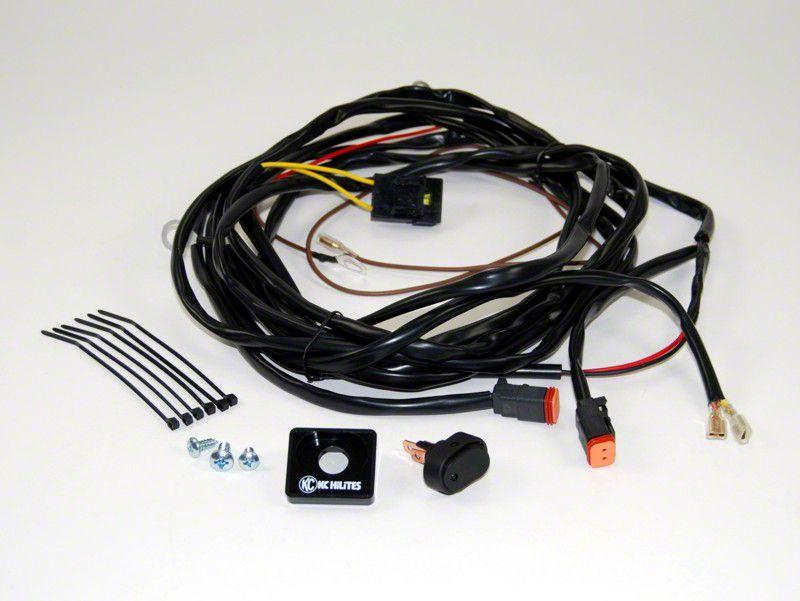 KC HiLiTES Wiring Harness for 2 Lights w/ 2-Pin Deutsch Connectors (07-18 Sierra 1500)