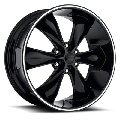 Foose Legend Six Gloss Black 6-Lug Wheel - 22x9.5 (07-18 Sierra 1500)