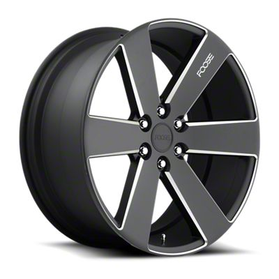 Foose Switch Black Milled 6-Lug Wheel - 22x9.5 (07-18 Sierra 1500)