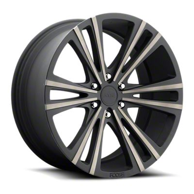 Foose Wedge Matte Black Machined 6-Lug Wheel - 22x9.5 (07-18 Sierra 1500)