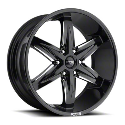 Foose Slider Gloss Black Milled 6-Lug Wheel - 22x9.5 (07-18 Sierra 1500)