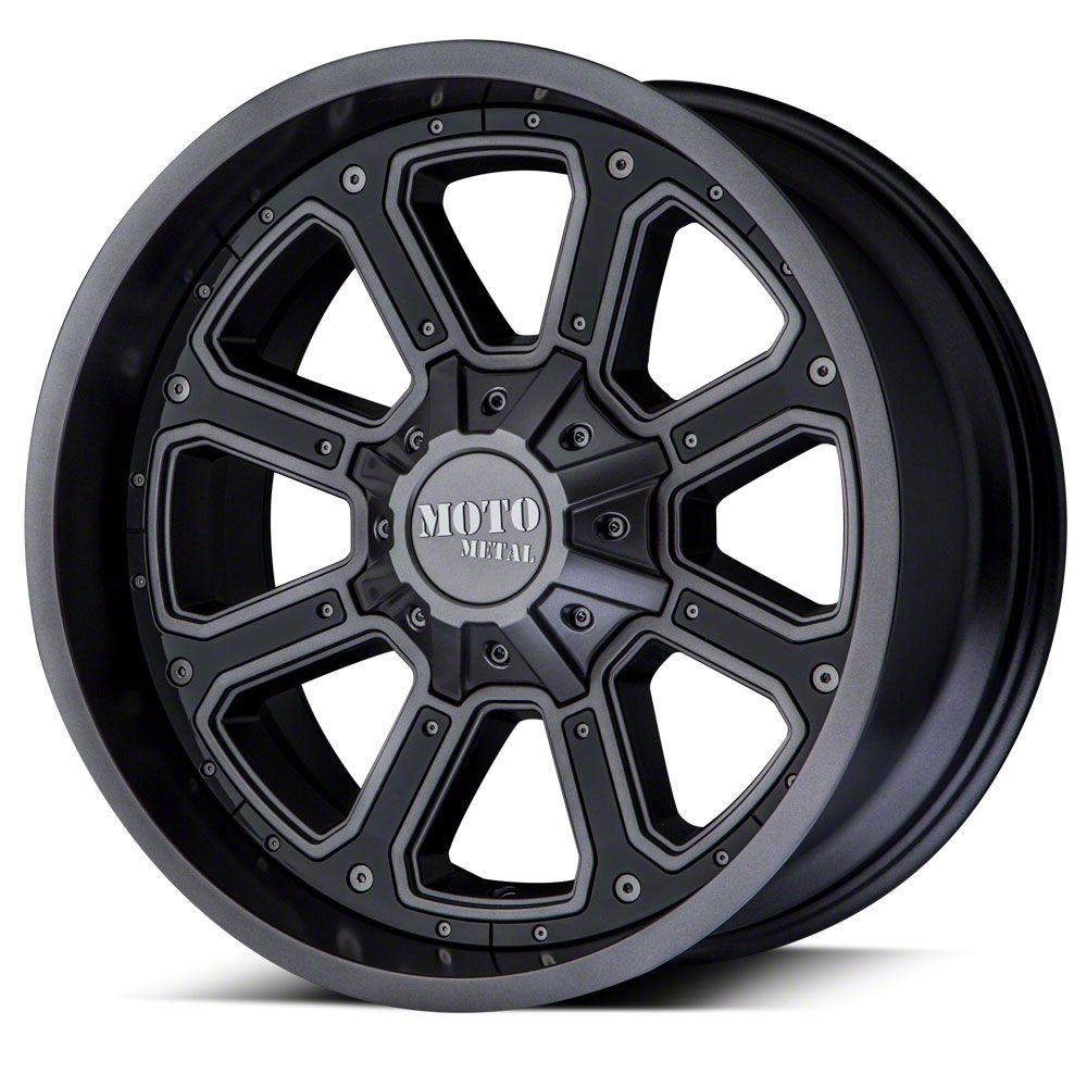 Moto Metal MO984 Shift Matte Gray 6-Lug Wheel - 22x14 (07-18 Sierra 1500)