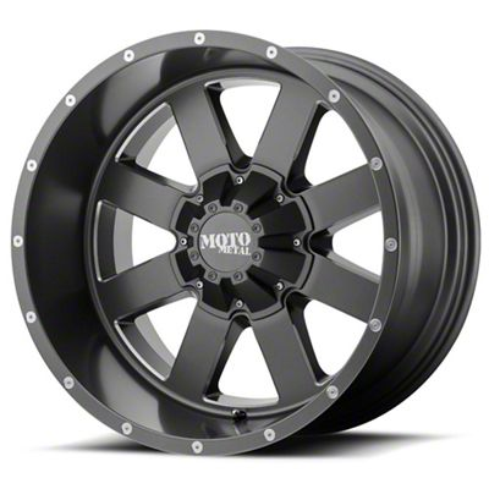 Moto Metal MO962 Satin Gray Milled 6-Lug Wheel - 22x14 (07-18 Sierra 1500)