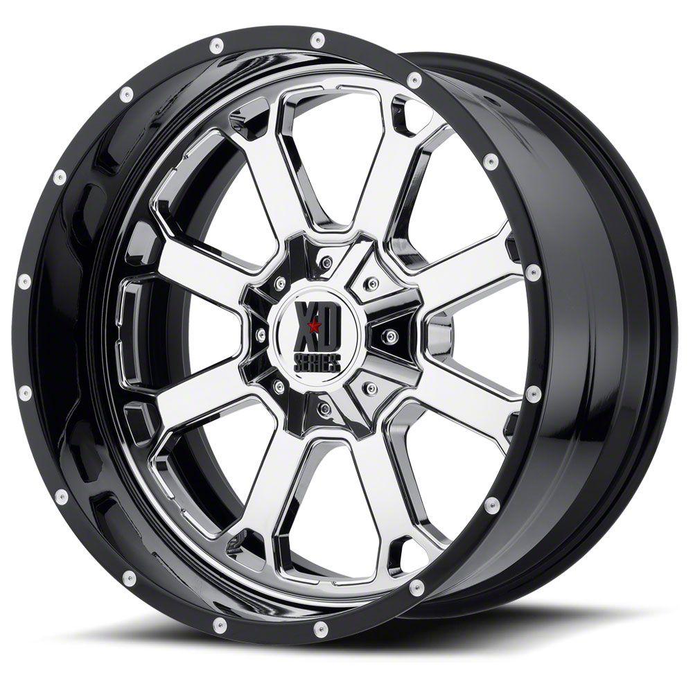XD Buck 25 Chrome w/ Gloss Black Milled 6-Lug Wheel - 20x12 (07-18 Sierra 1500)
