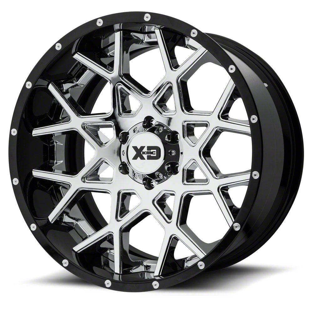 XD Chopstix Chrome w/ Gloss Black Milled Lip 6-Lug Wheel - 20x12 (07-18 Sierra 1500)