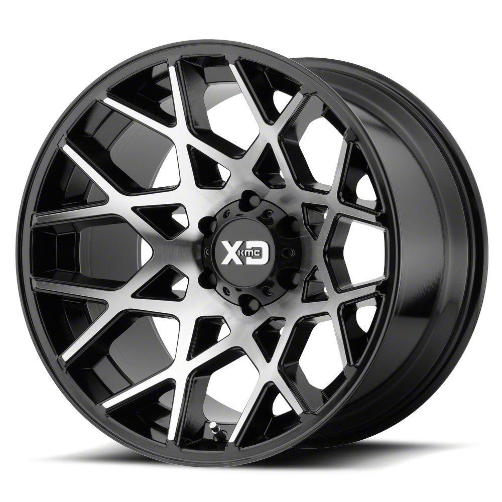 XD Chopstix Gloss Black Machined 6-Lug Wheel - 22x12 (07-18 Sierra 1500)