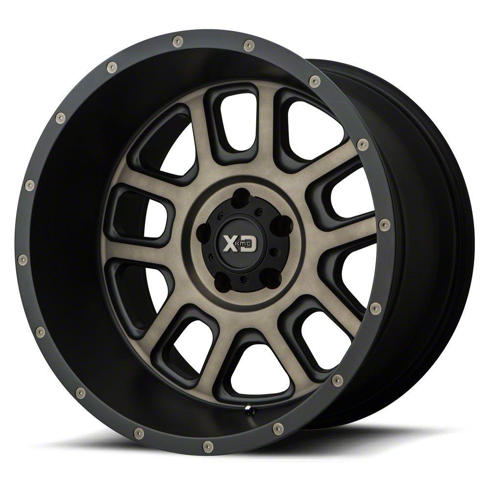 XD Delta Matte Black w/ Dark Tint 6-Lug Wheel - 22x14 (07-18 Sierra 1500)