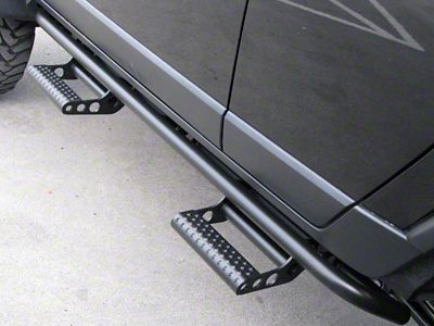 N-Fab Cab Length RKR Side Rails w/ Detachable Steps - Textured Black (07-13 Sierra 1500 Extended Cab)