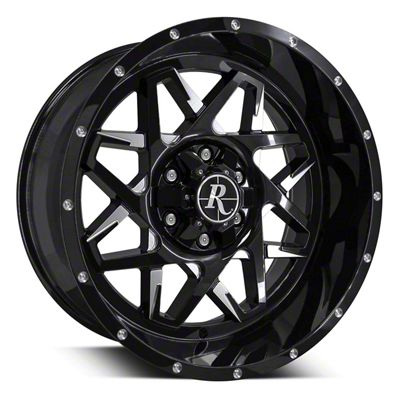 Remington Off-Road Caliber Gloss Black Milled 6-Lug Wheel - 20x10 (07-19 Sierra 1500)