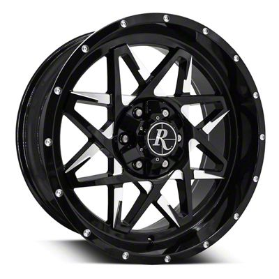 Remington Off-Road Caliber Gloss Black Milled 6-Lug Wheel - 20x9 (07-19 Sierra 1500)