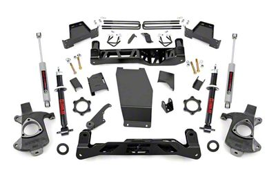 Rough Country 7 in. Suspension Lift Kit - Knuckle Kit (14-18 4WD Sierra 1500 w/ Cast Steel Control Arms)