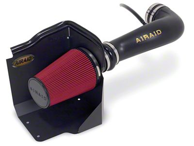 Airaid Cold Air Dam Intake w/ Red SynthaMax Dry Filter (07-08 4.8L Sierra 1500 w/ Electric Cooling Fan)