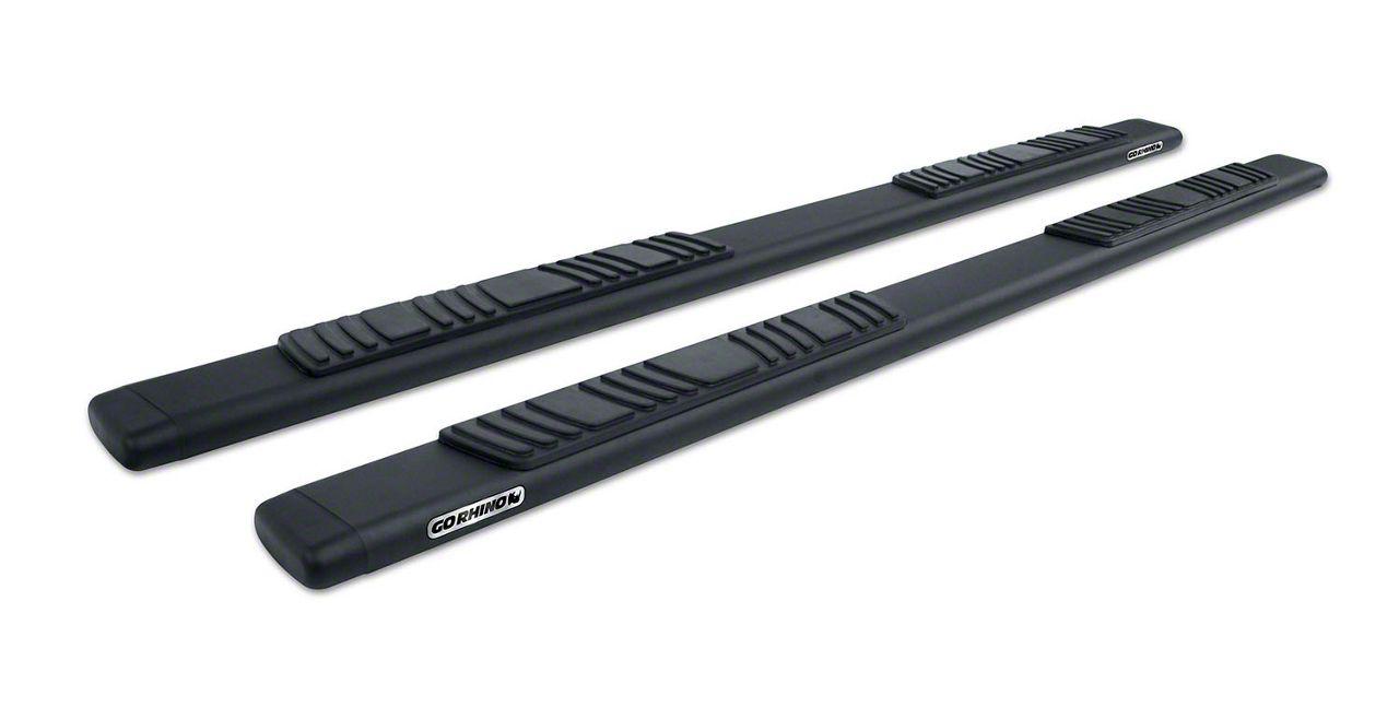 Go Rhino 5 in. OE Xtreme Low Profile Side Step Bars - Textured Black (07-13 Sierra 1500 Crew Cab)