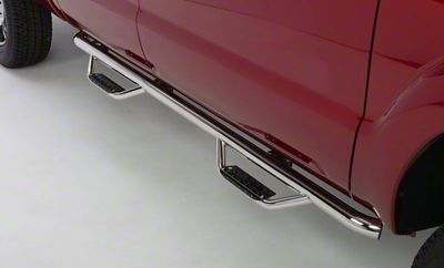 Go Rhino Dominator D2 Cab Length Side Step Bars - Stainless Steel (14-18 Sierra 1500 Crew Cab)