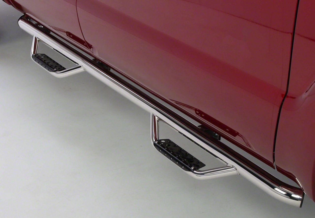 Go Rhino Dominator D2 Cab Length Side Step Bars - Stainless Steel (14-18 Sierra 1500 Double Cab)