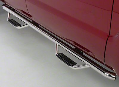 Go Rhino Dominator D2 Cab Length Side Step Bars - Stainless Steel (07-13 Sierra 1500 Extended Cab)