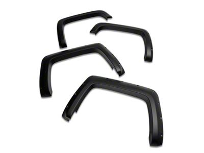 Rough Country Pocket Fender Flares - Flat Black (14-15 Sierra 1500)