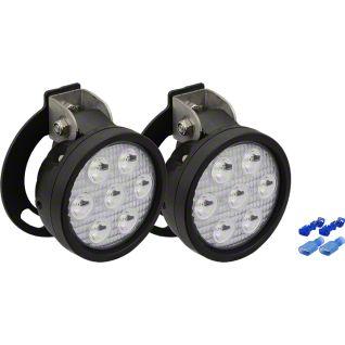 Vision X 4.5 in. Round LED Lights w/ Fog Light Mounting Brackets (07-13 Sierra 1500)