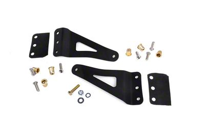 Rough Country 50 in. Curved LED Light Bar Upper Windshield Mounting Brackets (07-13 Sierra 1500)