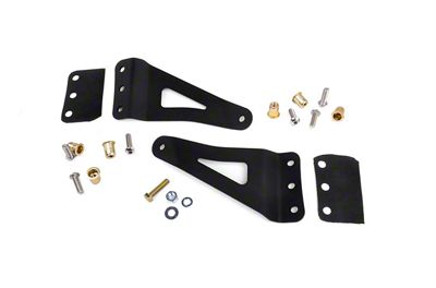 Rough Country 50 in. Straight LED Light Bar Upper Windshield Mounting Brackets (07-13 Sierra 1500)