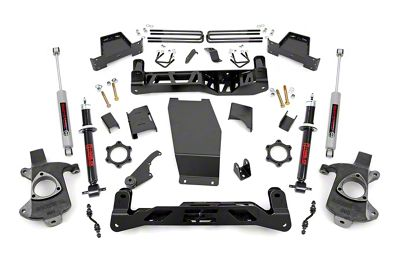 Rough Country 7 in. Suspension Lift Kit w/ N2.0 Struts & N3 Shocks (14-17 4WD Sierra 1500 w/ Stamped Steel or Cast Aluminum Control Arms)