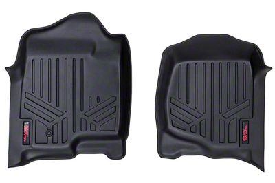 Rough Country Heavy Duty Front Floor Mats - Black (07-13 Sierra 1500)