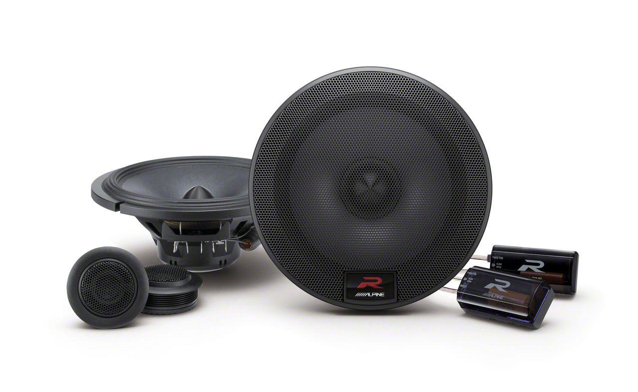 Alpine R-Series 6-1/2 in. Component 2-Way Speaker System - 100W (07-13 Sierra 1500)