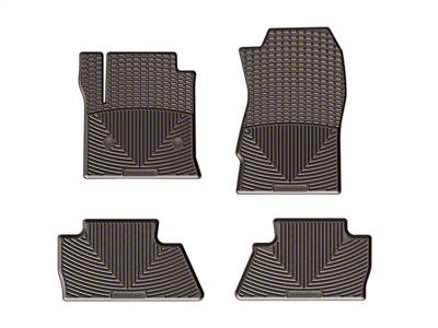 Weathertech All Weather Front & Rear Rubber Floor Mats - Cocoa (14-18 Sierra 1500 Crew Cab)