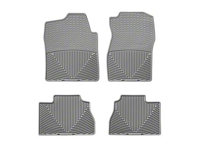 Weathertech All Weather Front & Rear Rubber Floor Mats - Gray (07-13 Sierra 1500 Extended Cab, Crew Cab)