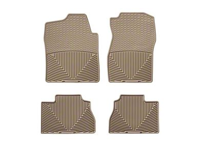Weathertech All Weather Front & Rear Rubber Floor Mats - Tan (07-13 Sierra 1500 Extended Cab, Crew Cab)