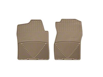 Weathertech All Weather Front Rubber Floor Mats - Tan (07-13 Sierra 1500)